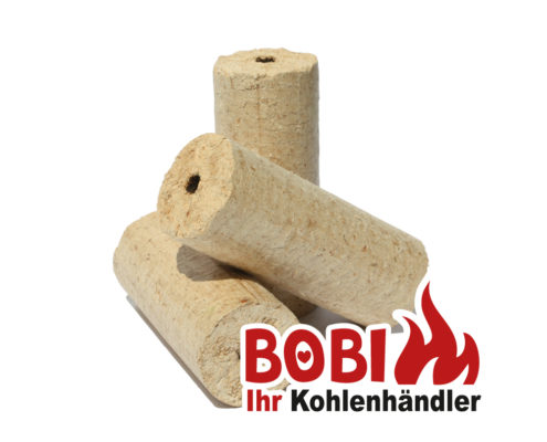 Bobi Kohlenhandel Wien - Holzbriketts mit Loch